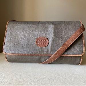 Gucci - Vintage Mono Canvas Leather Crossbody